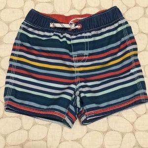 Baby Gap 12-18M striped swim trunks